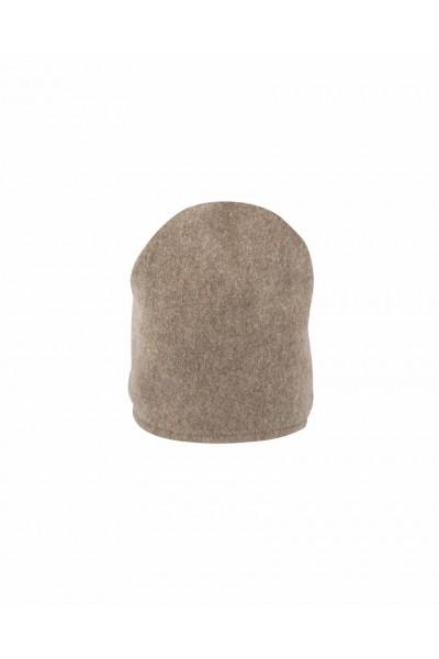 Beżowa czapka wełniana