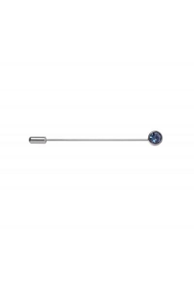 Ozdobna szpilka z niebieskim kryształkiem