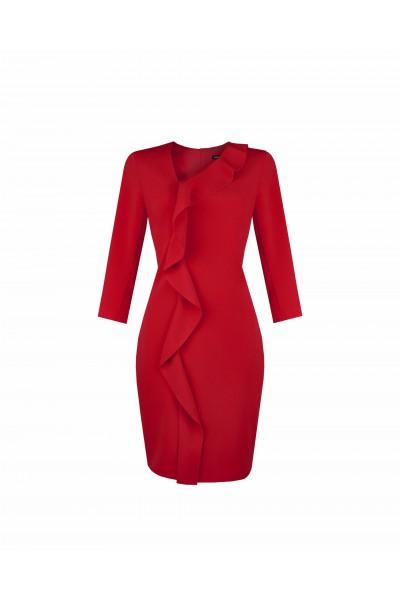 Sukienka z asymetrycznym drapowaniem