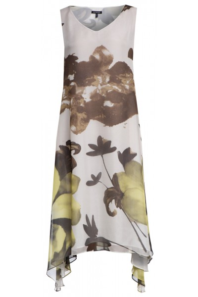 Jedwabna sukienka z asymetrycznym dołem