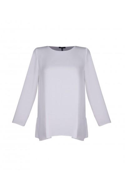 Biała bluzka z falbaną