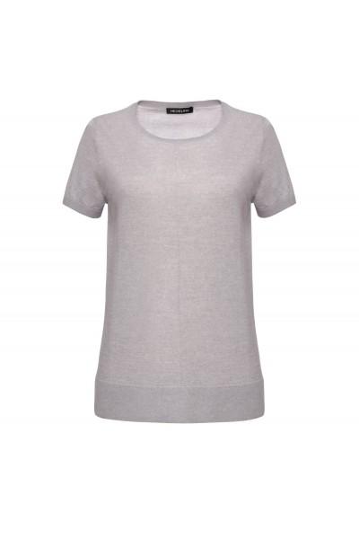 Wełniana bluzka z krótkim rękawem