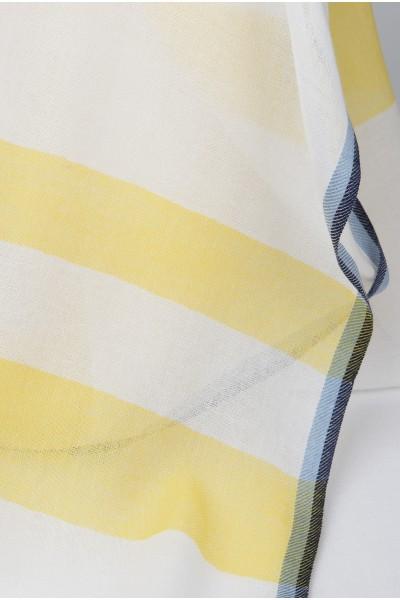 Bawełniany szal z motywem pasków