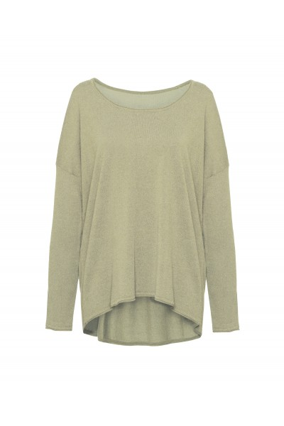 Lekki sweter z długim rękawem