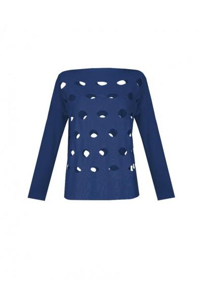 Bawełniany sweter w kolorze granatowym