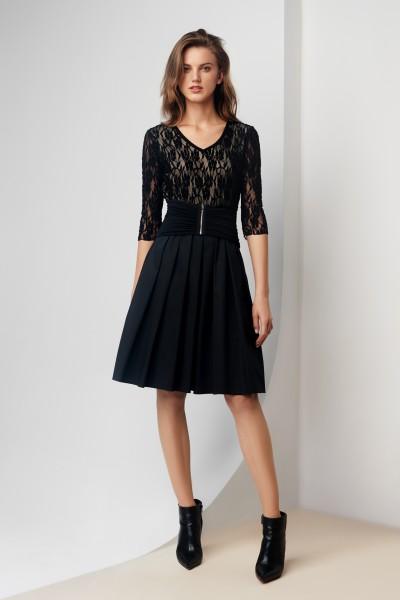 Sukienka z koronkową górą