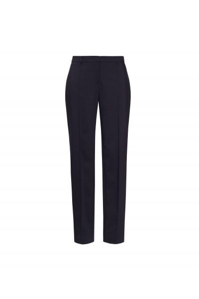 Klasyczne spodnie w kant w czarnym kolorze