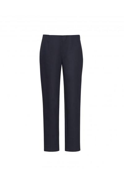 Grafitowe spodnie z wąskimi nogawkami i szytym kantem