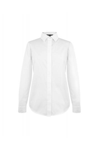 Klasyczna biała koszula z bawełny