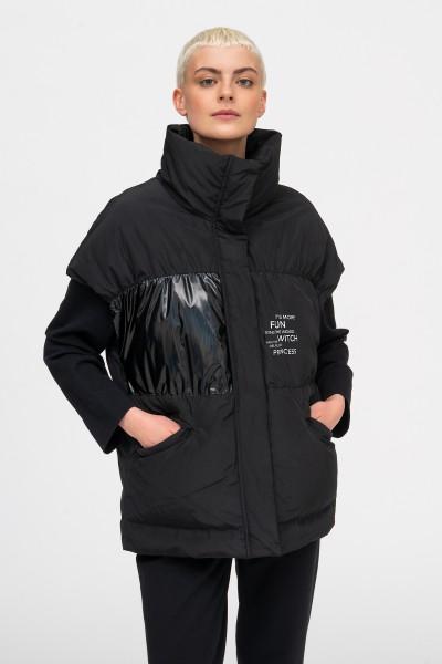 Ciepła sportowa kamizelka w kolorze czarnym