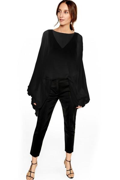 Jedwabna bluzka typu oversize