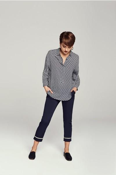 Spodnie z kontrastową lamówką
