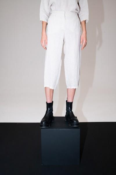 Letnie beżowe spodnie 100% len