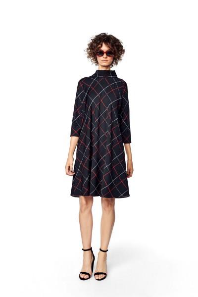 Luźna sukienka z szarfami