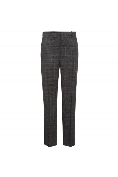 Eleganckie spodnie w szarą kratę
