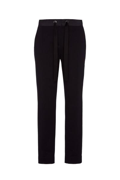 Spodnie z ozdobną tasiemką w kolorze czarnym