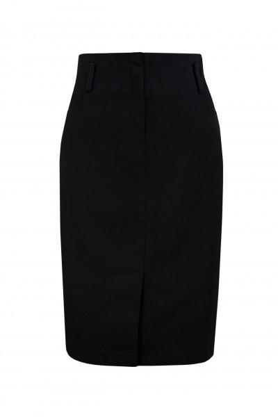 Ołówkowa spódnica z czarnej bawełny