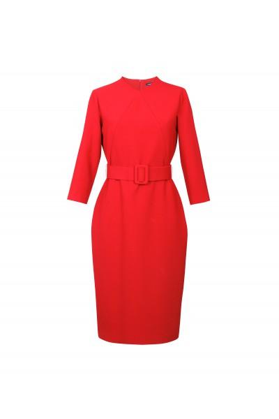Czerwona klasyczna sukienka
