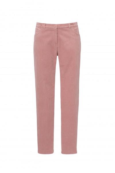 Sztruksowe spodnie w kolorze zgaszonego różu