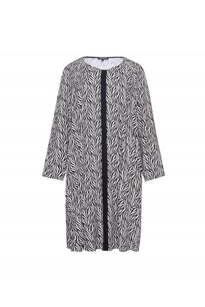 Luźna sukienka z kieszeniami w kontrastowy print