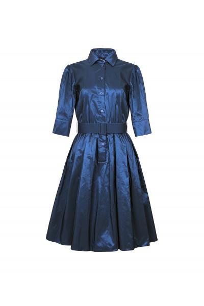 Sukienka z granatowej tafty