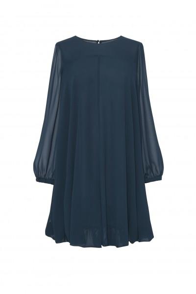 Ciemnozielona sukienka o kształcie litery