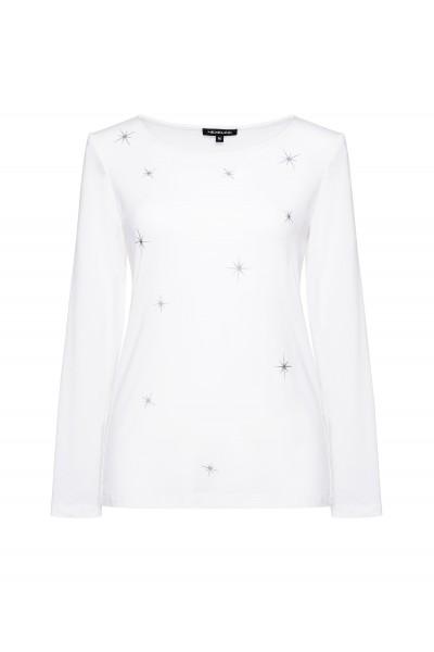 Biały t-shirt w srebrne gwiazdki