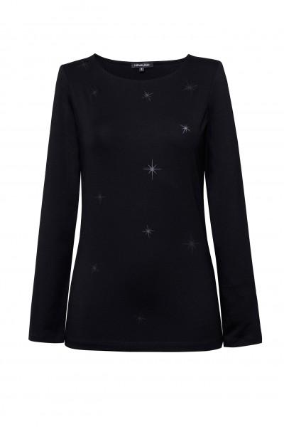 Czarny t-shirt w delikatne gwiazdki