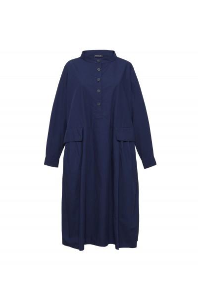 Bawełniana sukienka oversize z ozdobnymi kieszeniami