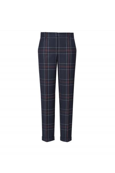 Spodnie w kratę z mankietami
