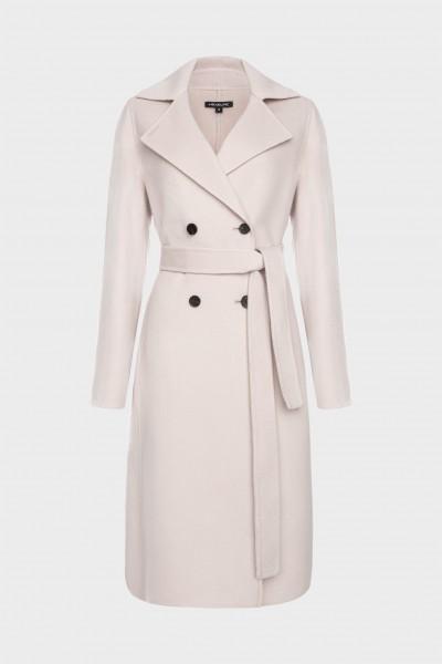 Dwurzędowy płaszcz w szaroróżowym kolorze