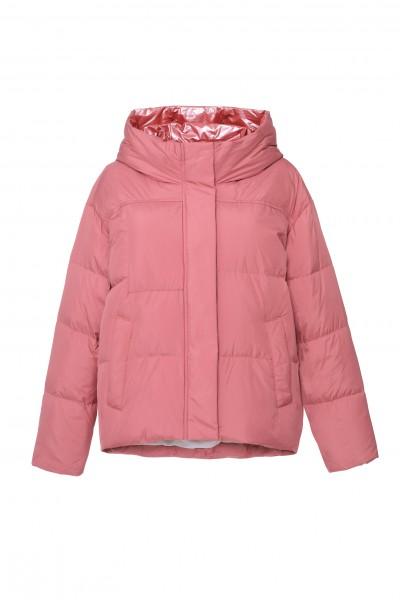 Ciepła kurtka w kolorze różowoczerwonym