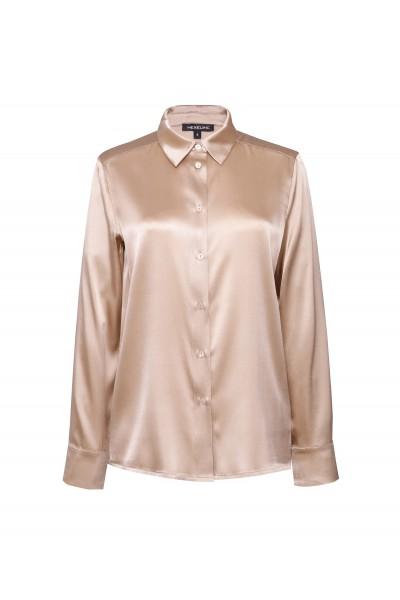 Jedwabna koszula w ciepłym odcieniu złota