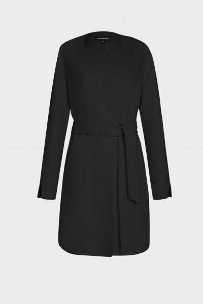 Płaszcz typu double-face z wełną i kaszmirem w kolorze głębokiej czerni