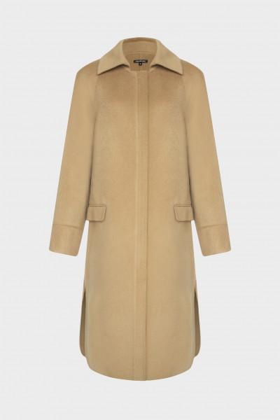 Płaszcz typu double-face z wełną i kaszmirem o kolorze camelowym