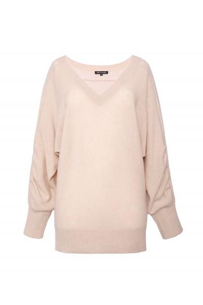 Sweter oversize z wełny merynosa