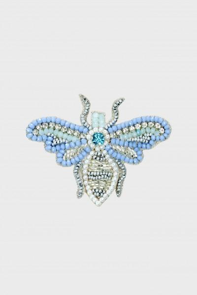 Broszka owad z ozdobnych koralików i kryształków