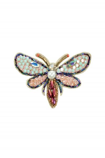 Kolorowa broszka w kształcie owada