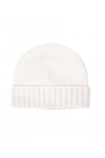 Ciepła czapka z kaszmiru w kolorze ecru