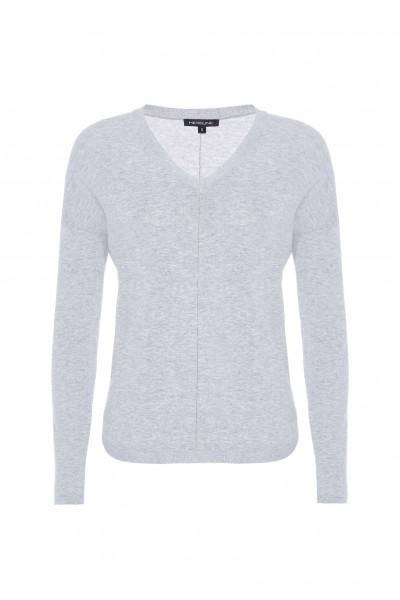Bawełniany sweter w kolorze jasnoszarym