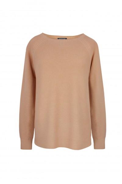 Brązowy sweter z wiskozy