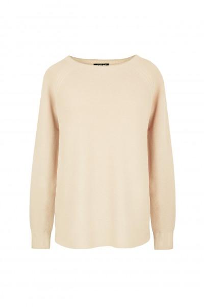Lekki beżowy sweter z wiskozy