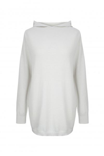 Długi sweter z kapturem 100% bawełna
