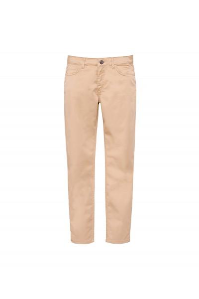 Bawełniane spodnie w kolorze beżowym