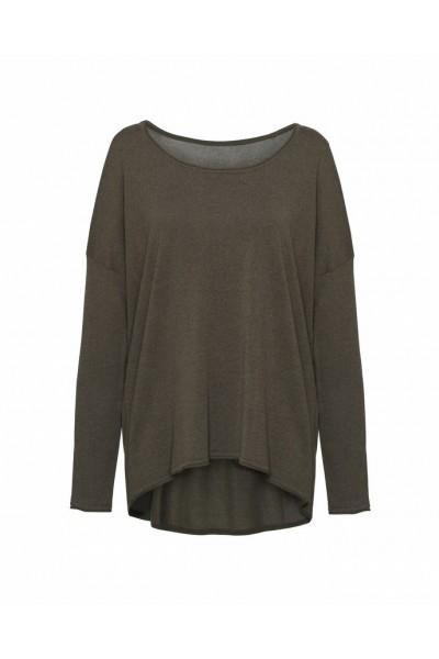 Swobodny sweter w kolorze khaki