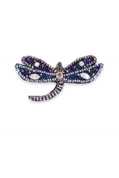 Biżuteryjna broszka w kształcie ważki