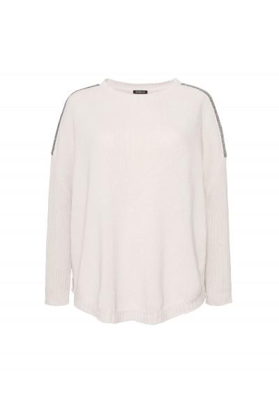 Bawełniany sweter w kolorze beżowym