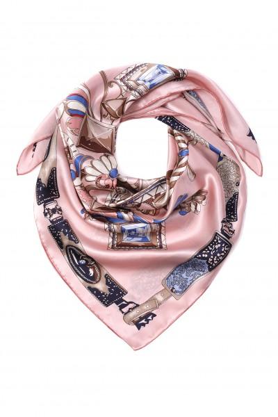 Jedwabna chusta w odcieniach różowego