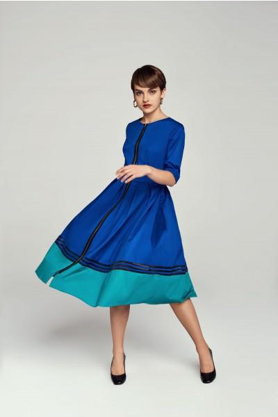 Bawełniana sukienka z ozdobnym zamkiem