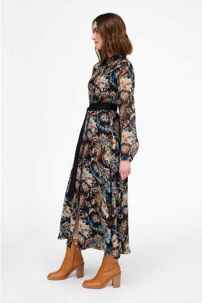 Maxi sukienka w kwiatowy wzór